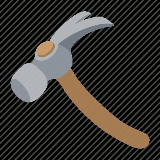 hammer, handle, metal, repair, tool, wooden, work icon