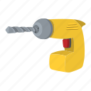 decor, drill, instrument, repair, screwdriver, technology, tool icon