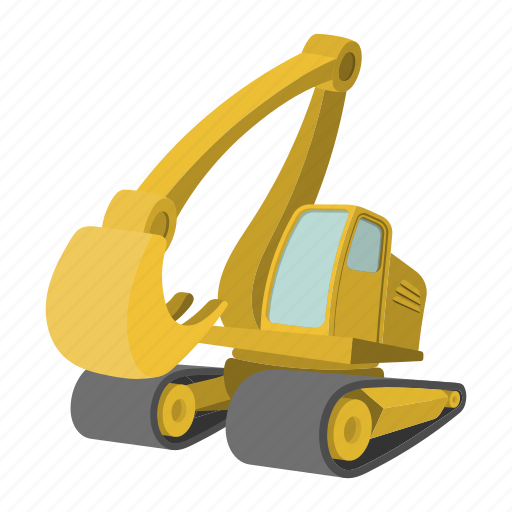 digger, engineering, excavator, heavy, machinery, tractor, vehicle icon