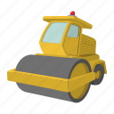 activity, asphalt, bitumen, building, bulldozer, car, paver icon