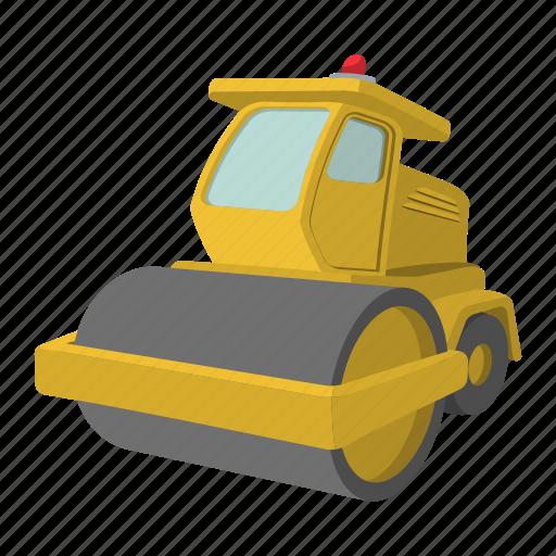activity, asphalt, bitumen, building, bulldozer, car, paver icon