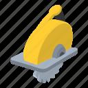 circle, circular, electric, saw, shade, steel, tool icon