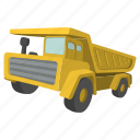 building, dump, heavy, hopper, tipper, traffic, truck icon