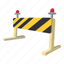 barrier, closeup, gate, lock, solid, street, traffic icon