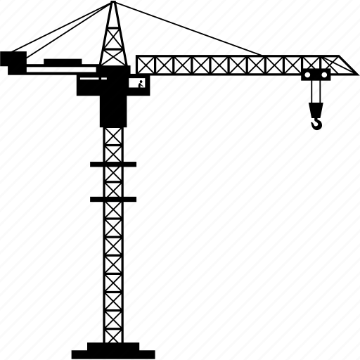 construction, crane icon
