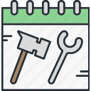 construction, schedule, time icon
