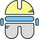 clothing, construction, equipment icon