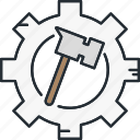 architecture, construction, equipment, hammer icon