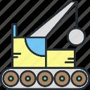 architecture, construction, demolition, equipment icon
