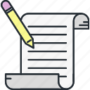 construction, contract, document, paperwork icon