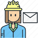 communication, construction, interaction, message icon