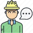 architecture, construction, constructor, dialog, work icon