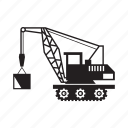 construction equipment, crane, crane truck, vehicle icon