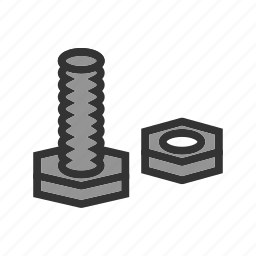 accessories, bolt, construction, hardware, nut, sanitary, screw icon