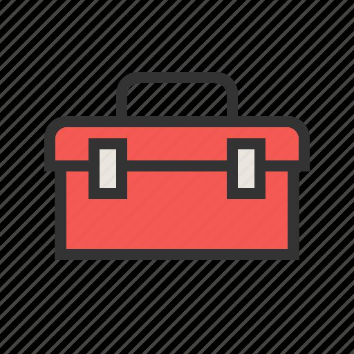 box, engineering, equipment, kit, plumber, toolbox, toolkit icon
