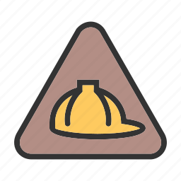 construction, engineer, helmet, maintenance, site, work in progress, worker icon