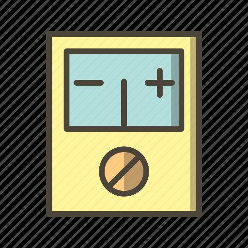 digital meter, meter, voltage, voltmeter icon