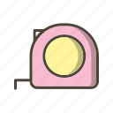 measure, measuring, tape icon