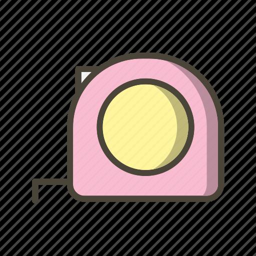 measure, measurement, measuring, tape icon
