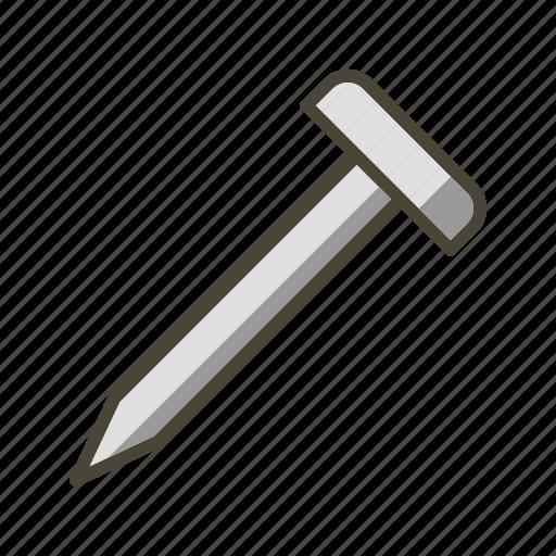 diy, metal, nail, screw icon
