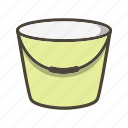 bucket, pail, pot, water icon
