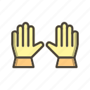 gloves, work, working gloves icon