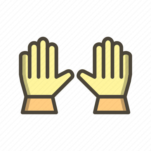 gloves, safety, work, working gloves icon