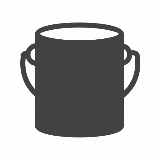 bucket, design, house construction, interior, paint, paint box, wall icon