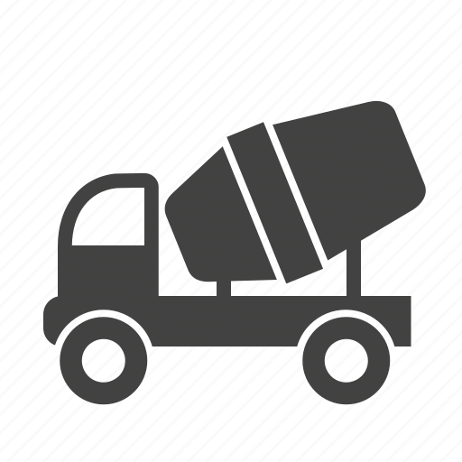 building, cement mixer, concrete, construction, machine, transport, truck icon