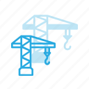 construction, crane, havy, industry, lift icon
