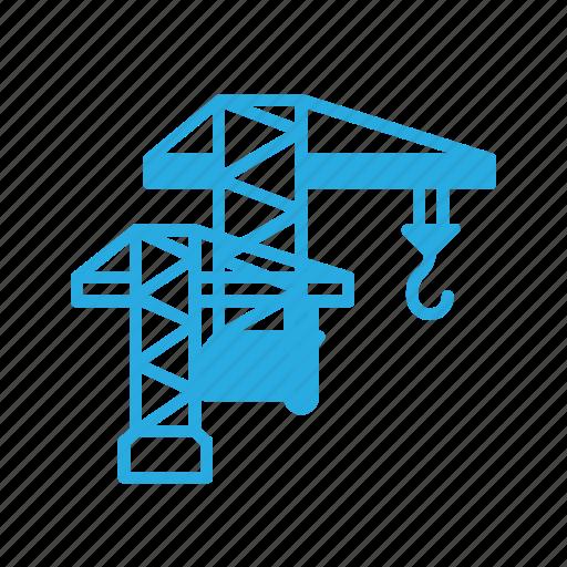 construction, crane, havy, industry, lift icon