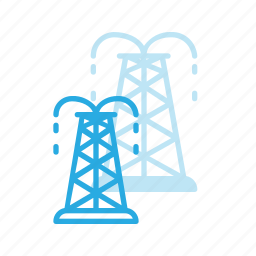 construction, industry, oil, pump, tower icon
