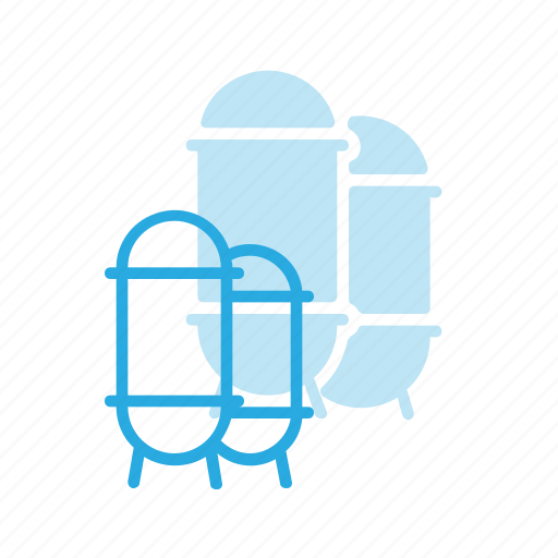 construction, industry, silo icon
