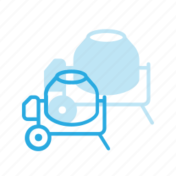 buggy, concrete, construction, industry, tool, tools icon