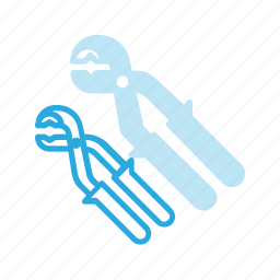 construction, industry, pipe, plier, tool, tools icon
