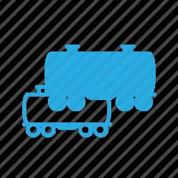 car, cart, cistern, construction, industry, train icon