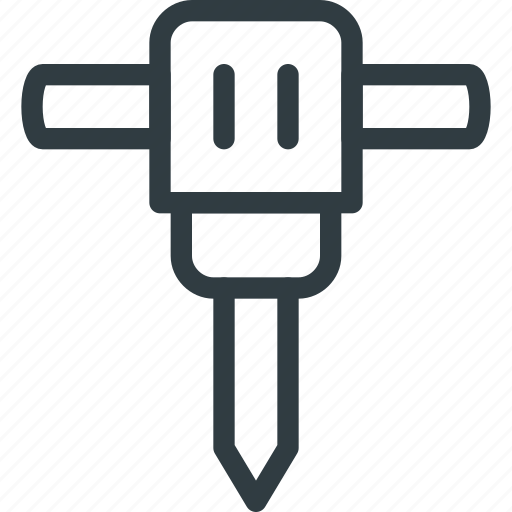 breaker, concrete, construction, industry, tool, tools icon