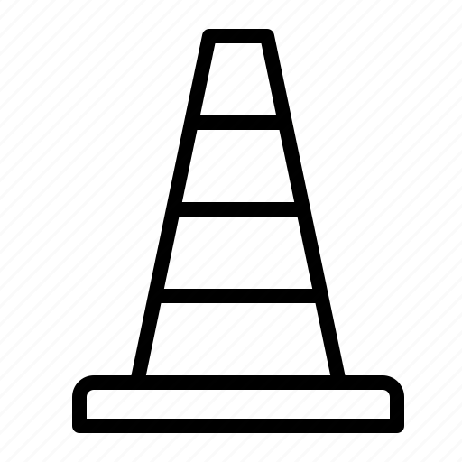 building, cone, construction, road, traffic, transport icon