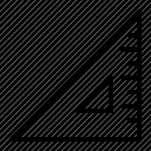 angle, measure, right, set, square, triangle icon