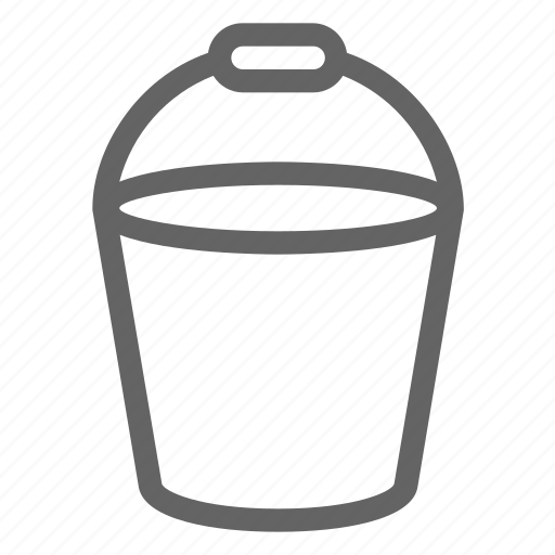 bucket, construction, equipment icon