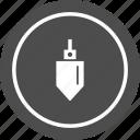 bob, construction, plumb, plumbbob, tool icon