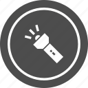 flash, lamp, light, torch icon