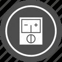 meter, volt, voltage, voltmeter icon
