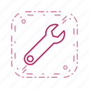 settings, spanner, tool, wrench icon