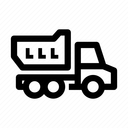 dump, machine, truck, vehicle icon