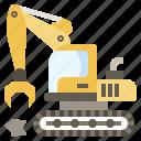 construction, demolish, demolishing, equipment, heavy, machinery, tools icon