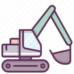 building, construction, construction machinery, heavy equipment, heavy machinery, machine, work icon