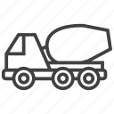 cement, concrete, construction, mixer, truck icon
