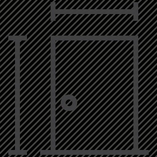 dimension, door, size icon