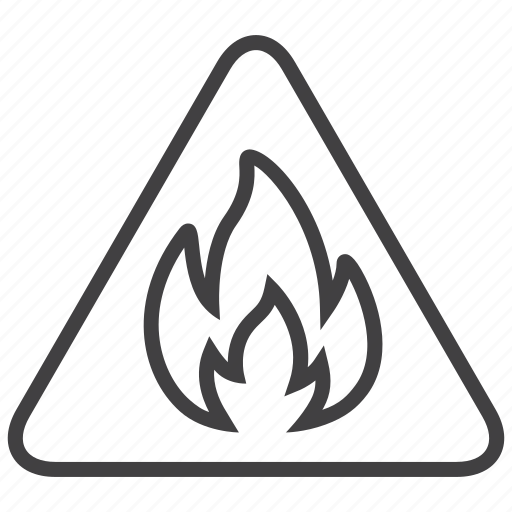 Fire, Flamable, Hot, Sign Icon